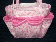 Breast cancer awareness   bingo bag Large/great for craft and make-up  organizer