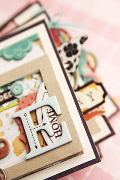 Mini Album - I do have loads of diecut letters to use up...