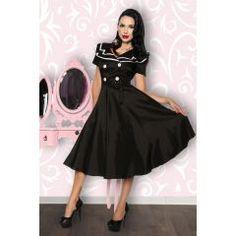 Hochwertiges Rockabilly-Kleid schwarz