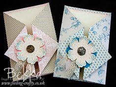 How to make a Diamond Gate Fold Card www.feeling-crafty.co.uk