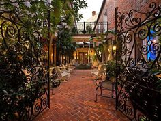 Courtyard of historic home in New Orleans.