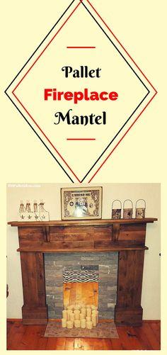 Pallet Fireplace Mantel - 101 Pallet Ideas