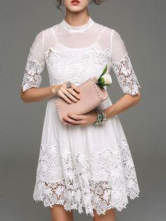 http://www.abaday.com/white-round-neck-half-sleeve-crochet-dress.html