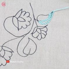Hand Embroidery Projects, Floral Embroidery Patterns, Hand Embroidery Videos, Embroidery Stitches Tutorial, Hand Embroidery Flower Designs, Creative Embroidery, Crewel Embroidery, Embroidery Techniques, Crochet