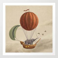 Adventure Awaits Art Print by Terry Fan - $18.00