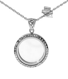 Womens Circle with White Cubic Zirconia Locket Necklace by Stamper Black Hills Gold Jewelry LP14766