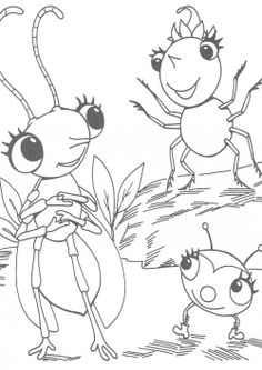 Miss Spider Play With Coloring Pages
