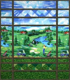 Golf Anyone? Pieced Quilt Pattern by Cynthia England at England ... : golf quilt patterns - Adamdwight.com