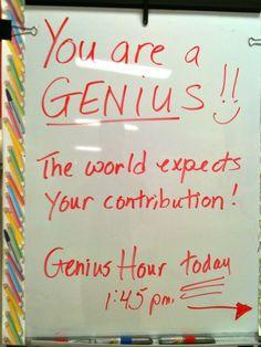 Teaching is Elementary: Genius Hour Reviewed