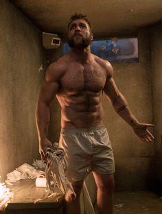 Suicide Squad Goals: Jai Courtney's Captain Boomerang Workout Hairy Men, Bearded Men, Jai Courtney Shirtless, Captain Boomerang, Male Magazine, Muscular Men, Hot Actors, Shirtless Men, Moustache