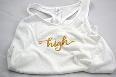 Medium - High Racer Back Tank Top - Cannabis High Culture - Marijuana Shirt by TrippyDrippyShop on Etsy