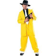 Yellow Zoot Suit Gangster Costume - Walmart.com