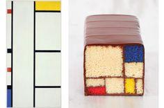 NPR covers SFMoMA-inspired desserts (L: painter Piet Mondrian; R: baker Caitlin Freeman) White Velvet Cakes, Great Works Of Art, Piet Mondrian, My Dessert, Dessert Ideas, Dessert Recipes, New Cookbooks, Museum Of Modern Art, Art Museum