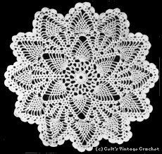 Pineapple Doily No. 83