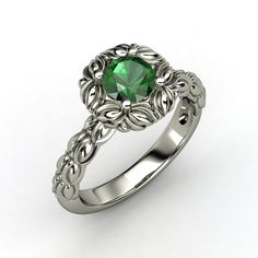 The Catalina Ring #customizable #jewelry #emerald #gold #ring
