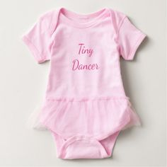 Tiny Dancer Vest Baby Bodysuit - girl gifts special unique diy gift idea