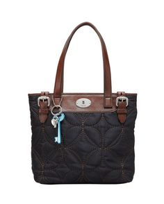 Key-per Quilted Shopper Bag - Black Love this handbag,I have it in hunter green and brown!!