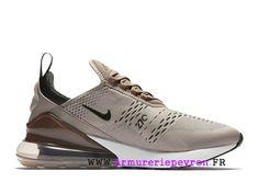 online store f4c24 a5a01 Terre grise blanche Nike Air Max 270 Chaussure de course Pas Cher Prix  Homme AH8050-