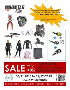 Mares Warehouse Sale 2013 By Hybrid Scuba, Up To 40% Discount On Diving Gear & Accessories   Sports   Great Deals Singapore