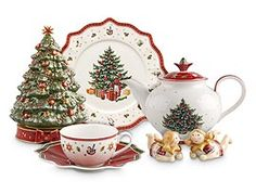 """Possible Chirstmas China Pattern. This one is more """"Christmas"""" looking and fun with the toy accents. (Villeroy & Boch's Toy's Delight)."""