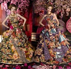 These gowns from Sugar Kei, a Japanese company are not for the faint of heart.