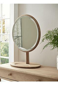 Bergen Oak Dressing Table Mirror - Mirrors