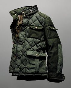 I think every man should own one stand out coat aside from formal wear. A piece like this makes a smooth transition between the rugged outdoors and sleek, urban style.