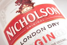 Nicholson Gin Labels designed by Claessens International and proudly printed by Multi-Color England. Visit www.mccshowcase.co.uk for more beautiful labels.