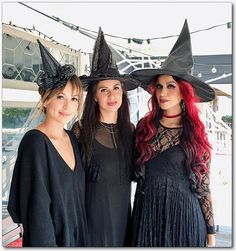 Sisterhood of the Traveling Witches ✨⭐️✨This past weekend at the kids little Halloween party: Witches Tea Party themed. More on the blog next week. ✨⭐️ @sincerelyjules #sisterhood #pointyhats #witchcostume #witches #coolsweetloud #sistersarethebest Ps.-Just notice the size of our pointy hats shows our birth order...the bigger the hat, the oldest we get!