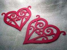 Scrolled Heart Die Piece Set of Very Romantic Scrolled Paper Heart Scrapbooking Die Cut Embellishments Scrapbook Embellishments, Die Cutting, Valentines Day, Paper Crafts, Romantic, Heart, Valentine's Day Diy, Tissue Paper Crafts, Paper Craft Work