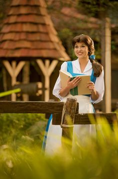 """On this day in Disney history, """"Beauty and the Beast"""" debuted in theaters, introducing us to a young, book-loving heroine named Belle. In the film, Belle bravely sets off in the forest to find her father and agrees to take his place in Tokyo Disneyland, Disneyland Resort, Disney Parks Blog, Walt Disney World, Belle Cosplay, Belle And Beast, Tale As Old As Time, Disney Face Characters, Disney Costumes"""