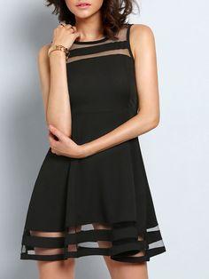 Vestido+con+vuelo+gasa-negro+14.70