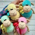 Crochet Toys Ideas Sheep - Toys Plush - Amigurumi [Free Crochet Pattern] ONLY FREE crocheting patterns for Amigurumi, Toys, Afghans, Baby Blankets, New Stitches and Tutorials and many more! Amigurumi Free, Crochet Patterns Amigurumi, Amigurumi Doll, Crochet Dolls, Crocheting Patterns, Crochet Sheep Free Pattern, Knitting Patterns, Crochet Simple, Cute Crochet