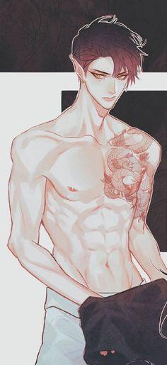 Anime Sexy, Hot Anime Boy, Dark Anime Guys, Anime Sensual, Cute Anime Guys, Anime Boys, Anime Angel, Ange Anime, Manga Art