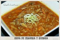 Chefs lunáticas: Sopa de kimpira y quinoa