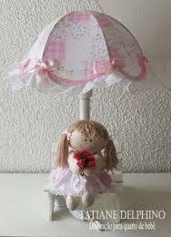 Resultado de imagem para abajures rosa de bonecas