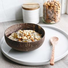 Morning goodness @heleneschulin ✨    Join the sustainable movement of eating out of recycled coconut shell bowls! Reclaim one for yourself at ~ www.coconutbowls.com