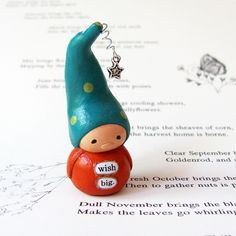 Wee Gnome with Wishing Star. Wish Big. | wish I knew how to order these little charmers/