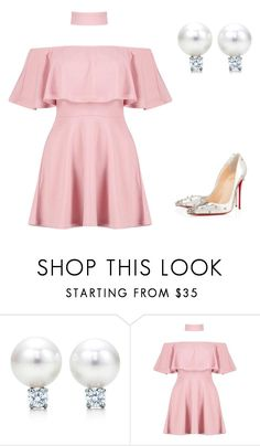 """""""Untitled #871"""" by sarabutterfly ❤ liked on Polyvore featuring Boohoo and Christian Louboutin"""