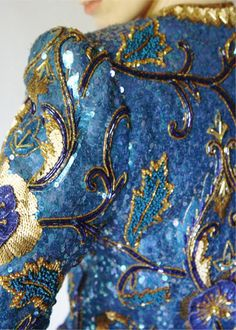 """""""Incredible Blue beading.in a dress"""" #repin #fashion #details ^kv"""