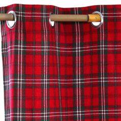 Edward Tartan Check Ready Made Eyelet Curtain Pair, 117 x 137 cm Drop - Ready Made Curtains - Curtains was £29.99 now £19.99