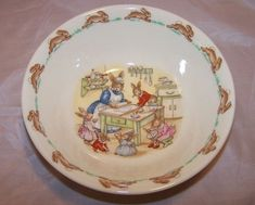 "Royal Doulton ""The Bunnykins are Baking"" bowl. Keva xo."