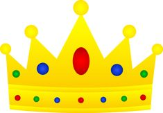 Royal Crown Clip Art | Golden Royal Crown With Jewels - Free Clip Art