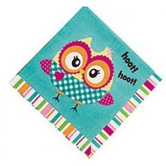 You're A Hoot Owl Beverage Napkins Kids Party Decorations, Beverage Napkins, Party Supplies, Beverages, Owl, Drinks, Party Items, Owls