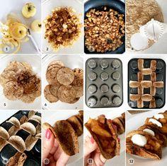 Zdravé jablečné taco jednohubky - fitness recept Bajola Cereal, Tacos, Breakfast, Fitness, Food, Morning Coffee, Essen, Meals, Yemek
