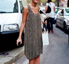 Studded flapper style dress . Streetstyle