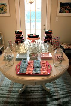 Gender Reveal Party - snack ideas, bowtie or bows