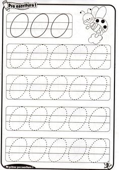 Fichas de grafomotricidad trazos ovalos Nursery Worksheets, Printable Preschool Worksheets, Kindergarten Math Worksheets, Tracing Worksheets, Preschool Writing, Writing Activities, Preschool Activities, Motor Skills Activities, Pre Writing