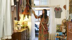 That dress, and that wonderful floating closet!...Heavenly!!! (Courtesy: eBay x The Selby Project)