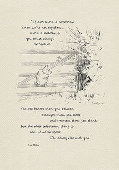 If ever there is tomorrow... Winnie the Pooh Quotes classic